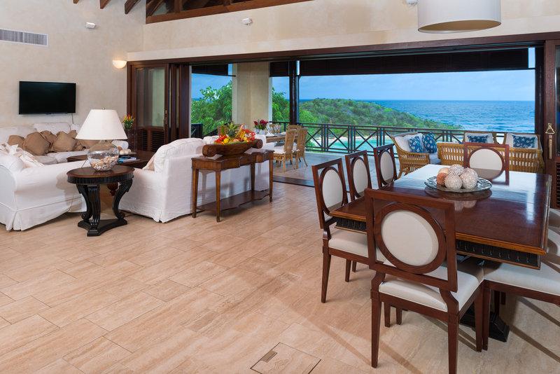Young  Island  Resort-Little Blue Ocean Four Bedroom Villa Living Room<br/>Image from Leonardo