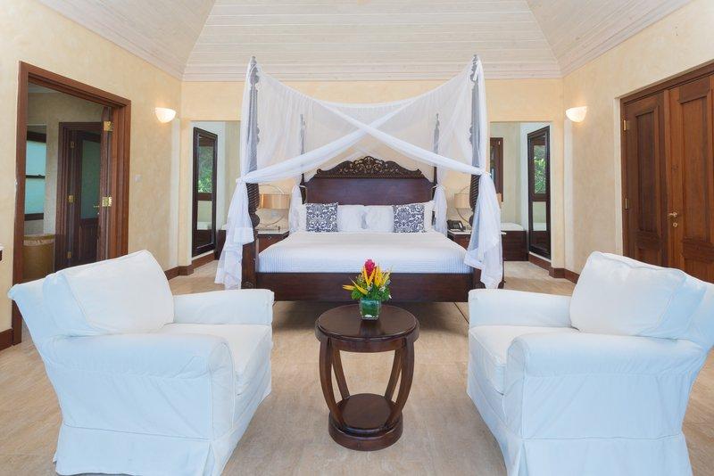 Young  Island  Resort-Little Blue Ocean Four Bedroom Villa Bedroom<br/>Image from Leonardo