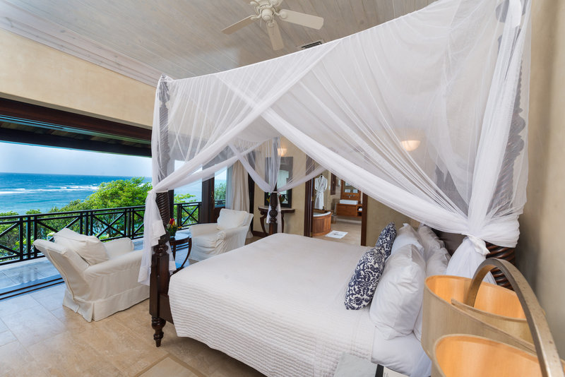 Young  Island  Resort-Little Blue Ocean Four Bedroom Villa Master Bedroom<br/>Image from Leonardo