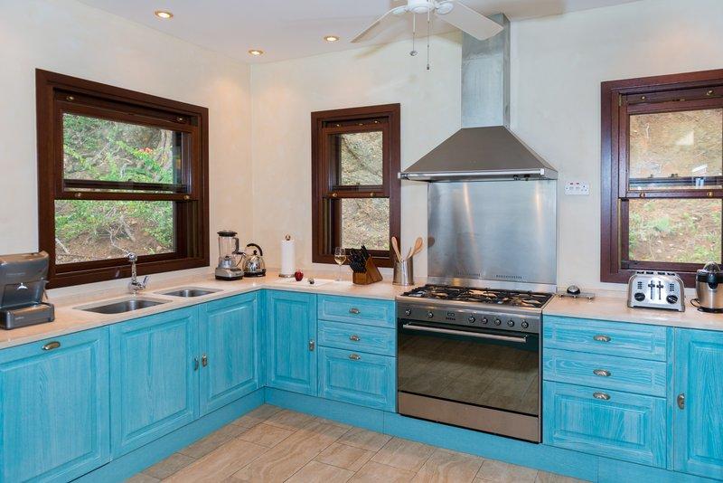 Young  Island  Resort-Little Blue Ocean Four Bedroom Villa Kitchen<br/>Image from Leonardo