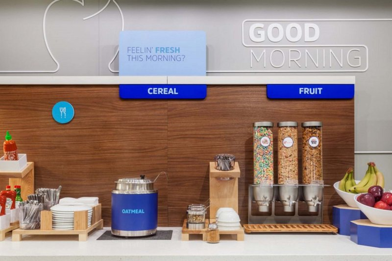 Holiday Inn Express & Suites Manchester Airport-Hot & cold cereal every day plus fresh whole fruit for breakfast.<br/>Image from Leonardo
