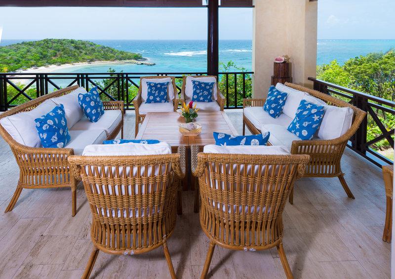Young  Island  Resort-Little Blue Ocean Four Bedroom Villa Balcony<br/>Image from Leonardo