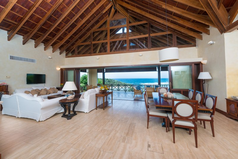 Young  Island  Resort-Little Blue Ocean Four Bedroom Villa Living & Dining Room<br/>Image from Leonardo