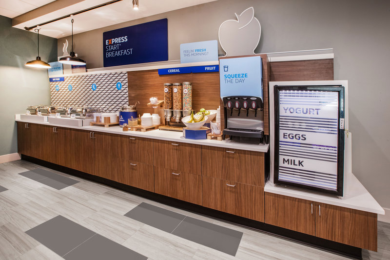 Holiday Inn Express & Suites Manchester Airport-Juice, Yogurt, Hard Cooked Eggs & Milk - We have you covered!<br/>Image from Leonardo