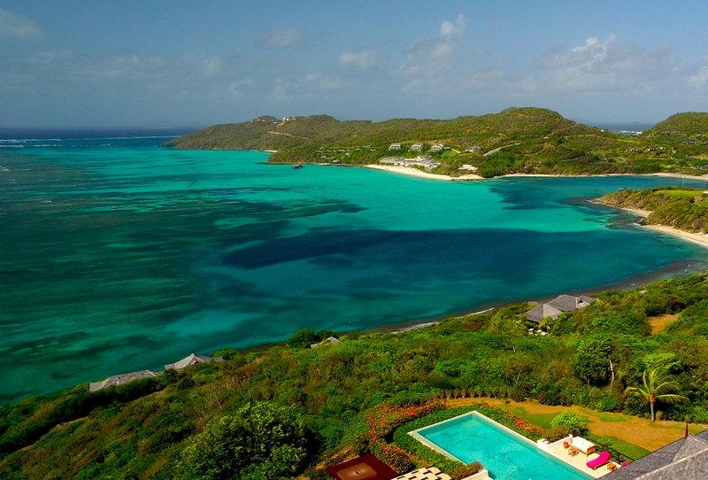 Young  Island  Resort-Silver Turtle Six Bedroom Villa Aerial<br/>Image from Leonardo