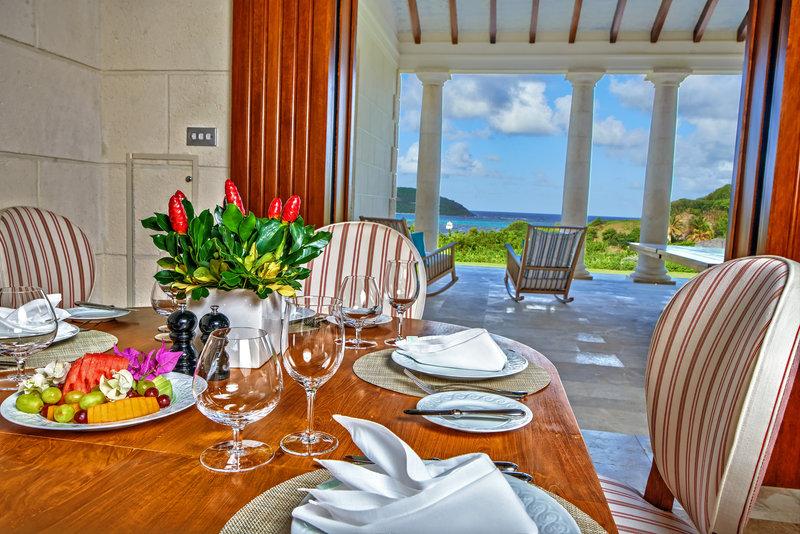 Young  Island  Resort-Turtle Creek Five Bedroom Villa Dining Area<br/>Image from Leonardo