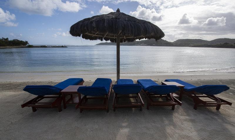 Young  Island  Resort-Canouan Estate Beach at Dusk<br/>Image from Leonardo