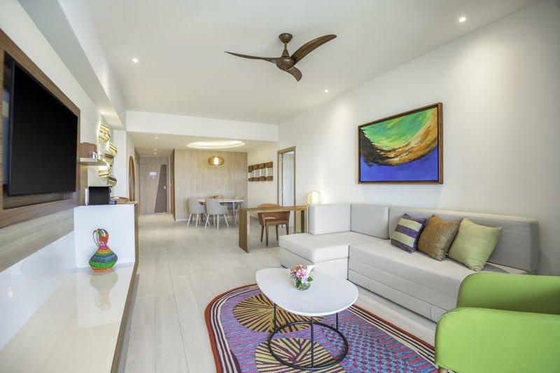 Hyatt Ziva Cap Cana  - Ocean View One Bedroom Master Suite Living Room <br/>Image from Leonardo