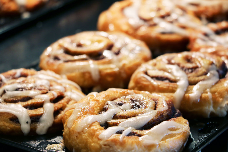 Holiday Inn Express Hotel & Suites Charleston Apt-Conv Ctr-Our Signature Cinnamon Rolls! Millions & Millions served.<br/>Image from Leonardo