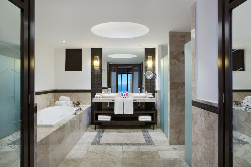 Hyatt Ziva Los Cabos - Oceanfront One Bedroom Master Suite Bathroom <br/>Image from Leonardo
