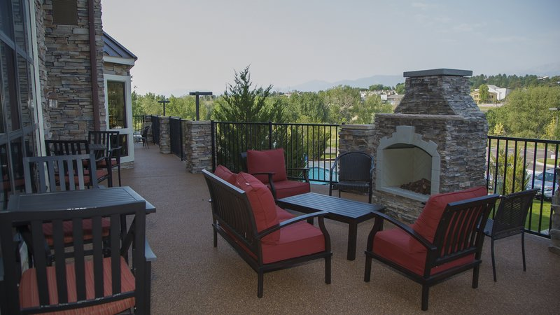 Staybridge Suites Colorado Springs North-Beautiful guest space with views of Pikes Peak<br/>Image from Leonardo