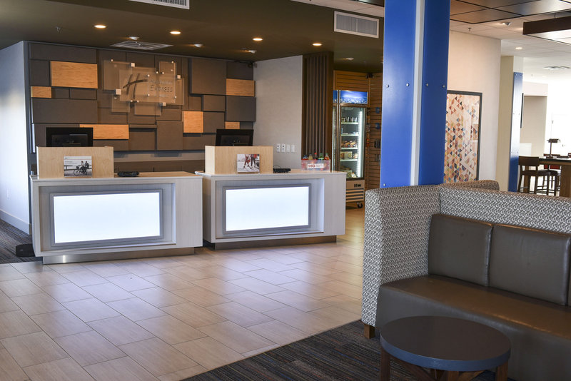 Holiday Inn Express And Suites Madisonville-Front Desk with Welcoming Staff<br/>Image from Leonardo