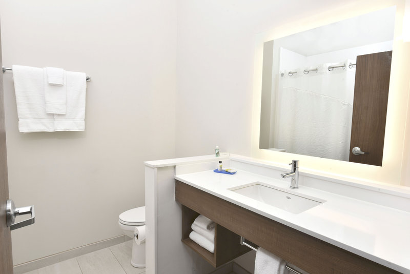 Holiday Inn Express And Suites Madisonville-Guestroom Bathroom Vanity<br/>Image from Leonardo