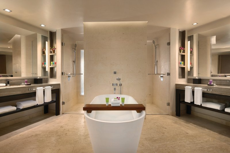 Hyatt Ziva Rose Hall - Ocean View Butler Junior Suite Bathroom <br/>Image from Leonardo