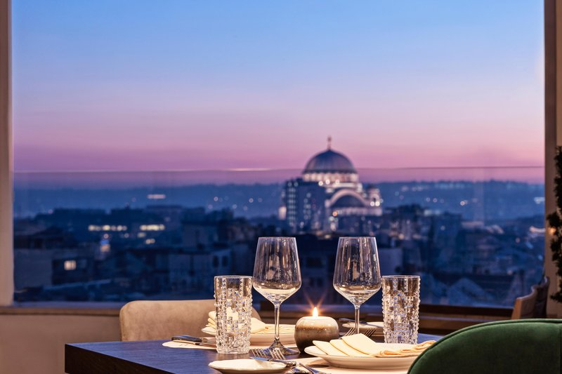 Metropol Palace Belgrade; a Luxury Collection Hotel-22 Rooftop Restaurant - View<br/>Image from Leonardo