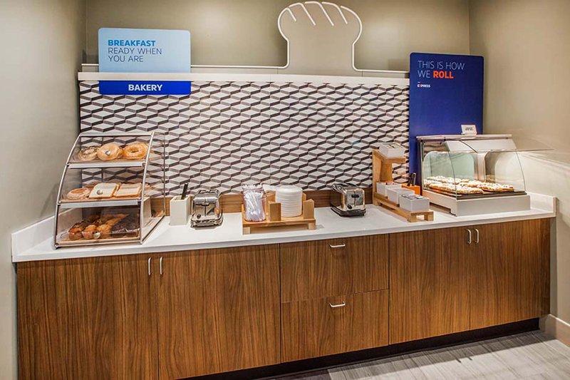 Holiday Inn Express & Suites St. John Harbour Sde-Bakery goods & Fresh HOT Signature Cinnamon Rolls for breakfast!<br/>Image from Leonardo