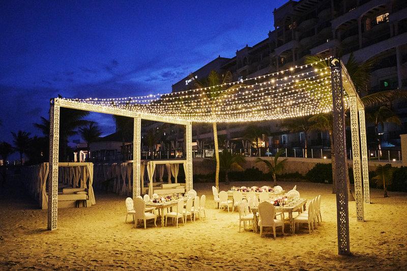 Hyatt Zilara Cancun - Wedding Beach Reception Night <br/>Image from Leonardo