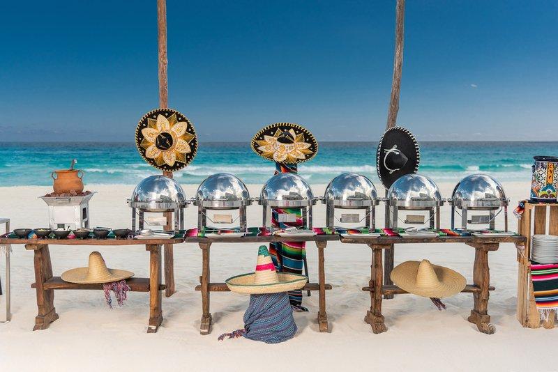 Hyatt Zilara Cancun - Beach Banquet Event Food Station <br/>Image from Leonardo