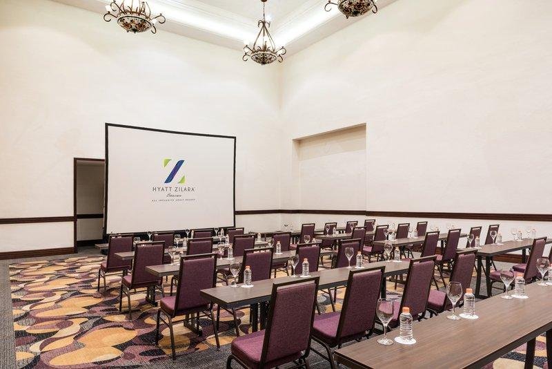 Hyatt Zilara Cancun - Ballroom Arena Clasroom Setup <br/>Image from Leonardo