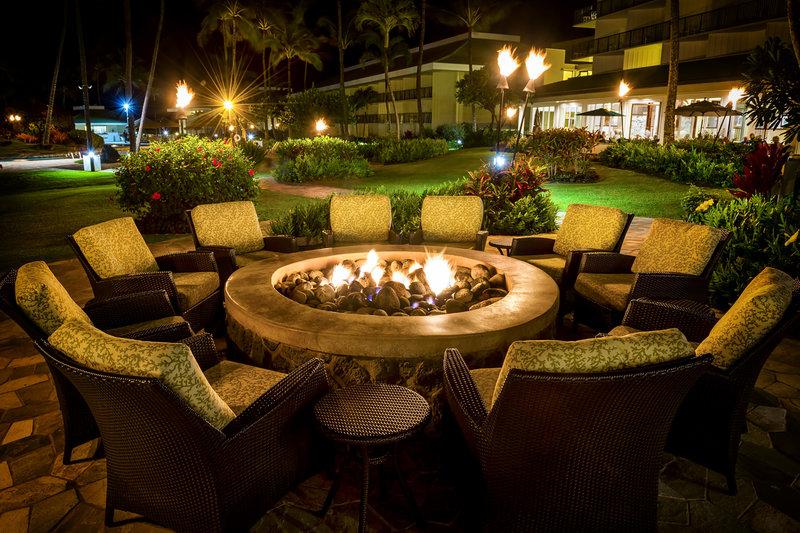 Kauai Beach Resort-KauaiBeachResort-ShuttersLounge-FirePit<br/>Image from Leonardo