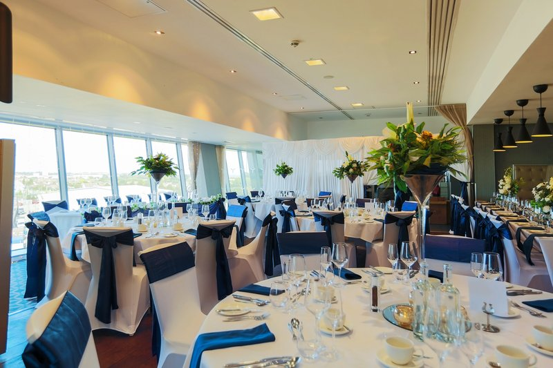 Holiday Inn Southend-Restaurant weddings are available with runway views<br/>Image from Leonardo
