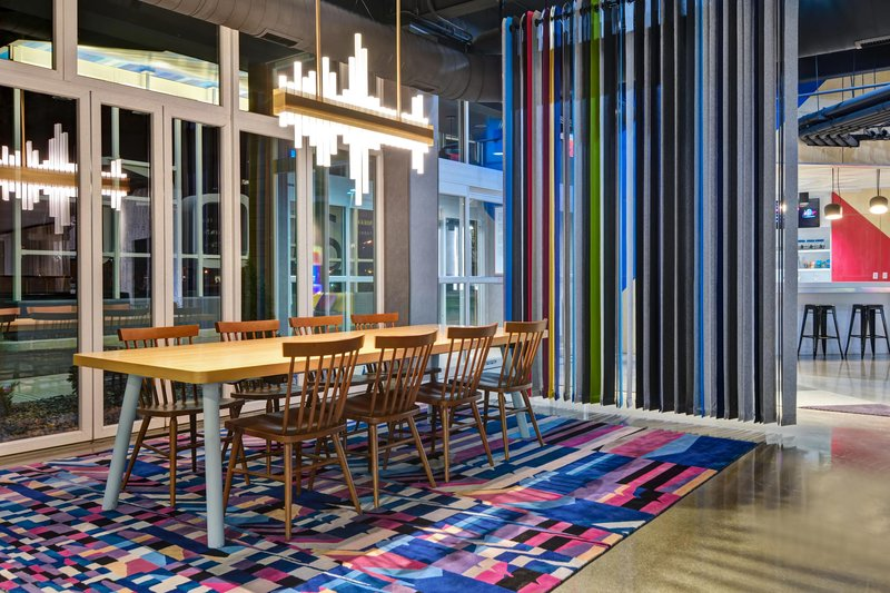 Aloft Secaucus Meadowlands-Lobby - Communal Table<br/>Image from Leonardo