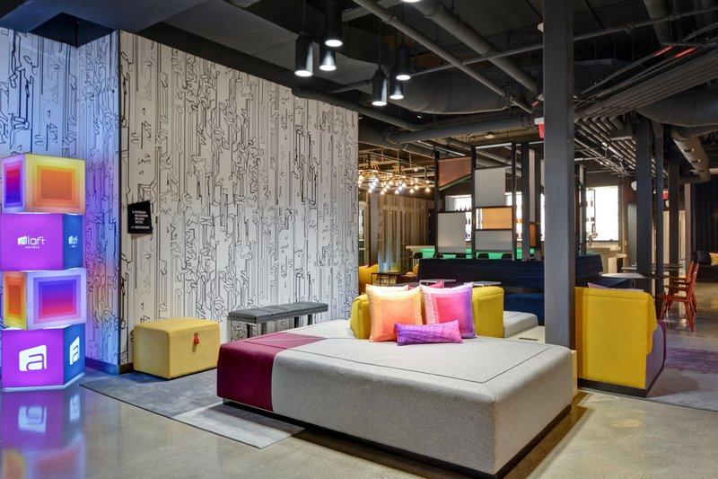 Aloft Secaucus Meadowlands-Lobby Seating Area<br/>Image from Leonardo