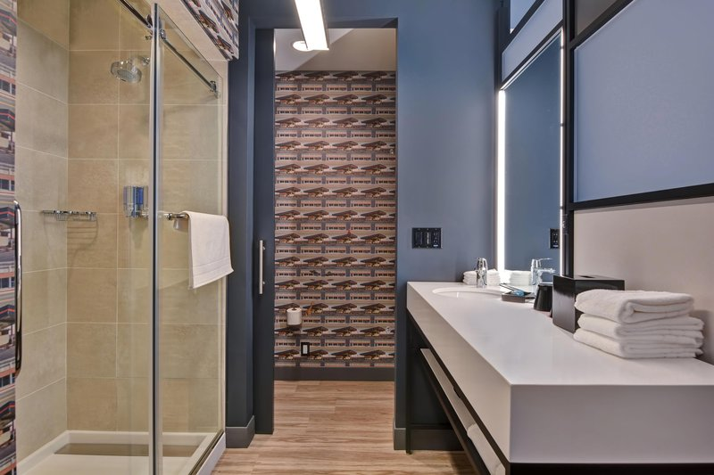 Aloft Secaucus Meadowlands-Guest Bathroom - Walk-In Shower<br/>Image from Leonardo