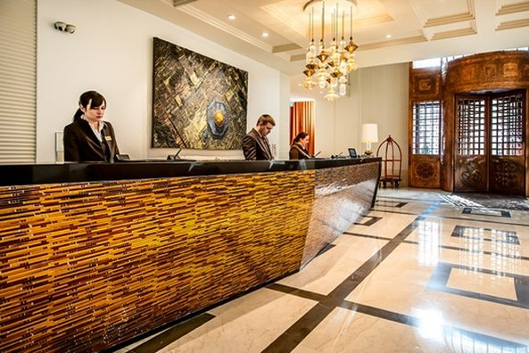 Continental Hotel Budapest-Reception Desk<br/>Image from Leonardo