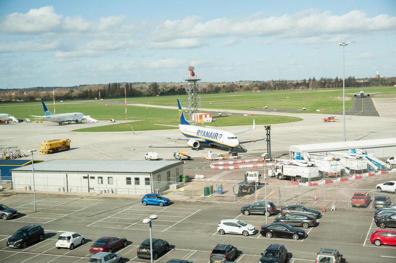 Holiday Inn Southend-Airport view from the hotel restaurant<br/>Image from Leonardo