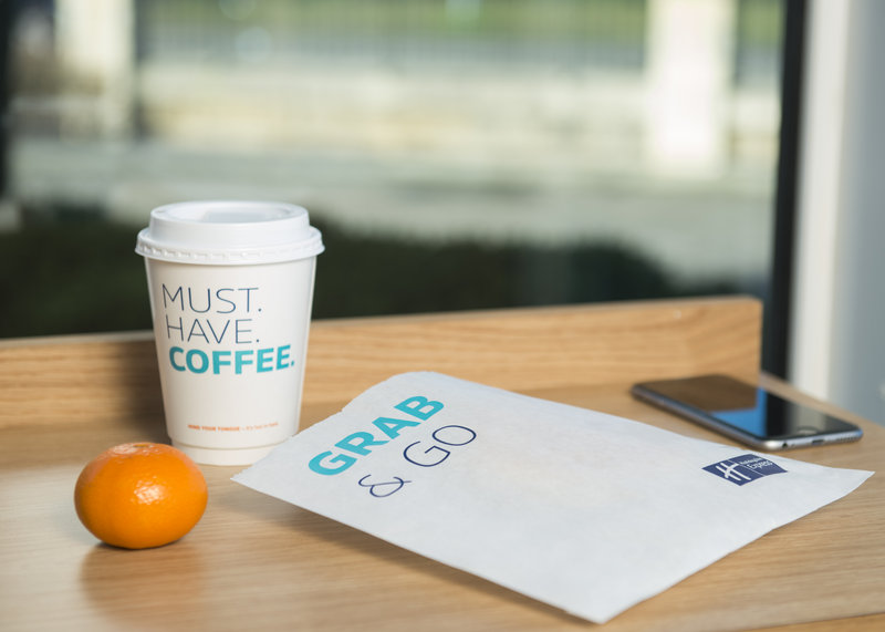 Holiday Inn Express Peterborough-Grab & Go breakfast only during COVID-19<br/>Image from Leonardo