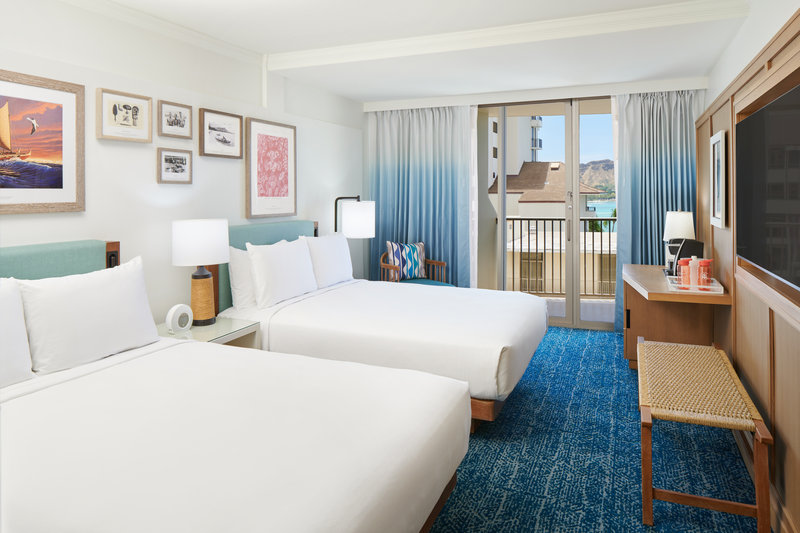 Outrigger Reef Waikiki Beach Resort - Outrigger Reef Diamond Head Ocean View 2 Queen <br/>Image from Leonardo
