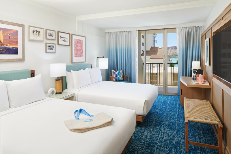 Outrigger Reef Waikiki Beach Resort - Outrigger Reef Diamond Head Oceanview 2 Queen <br/>Image from Leonardo