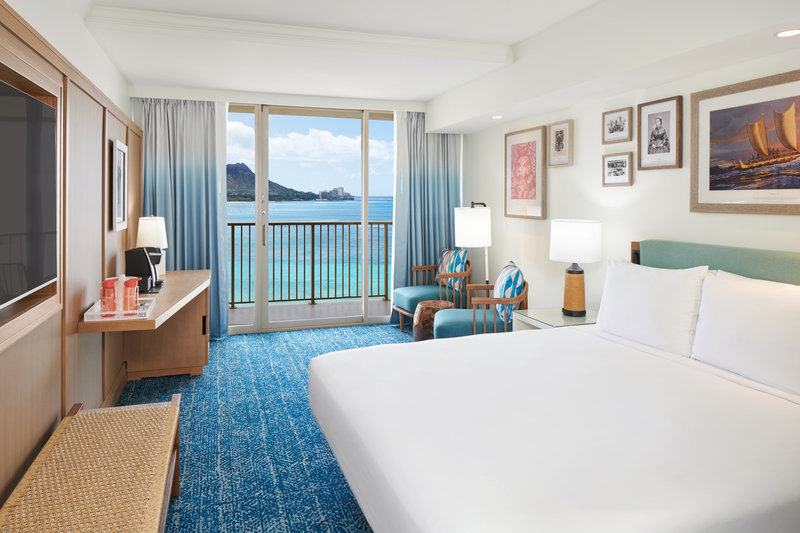 Outrigger Reef Waikiki Beach Resort - Outrigger Reef Diamond Head Oceanview 1 King <br/>Image from Leonardo