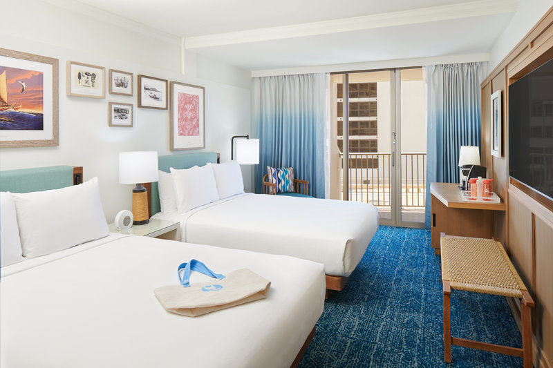 Outrigger Reef Waikiki Beach Resort - Outrigger Reef Ocean Tower Ocean View 2 Queen <br/>Image from Leonardo