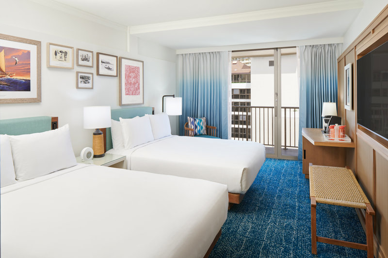 Outrigger Reef Waikiki Beach Resort - Outrigger Reef Partial Oceanview 2 Queen <br/>Image from Leonardo