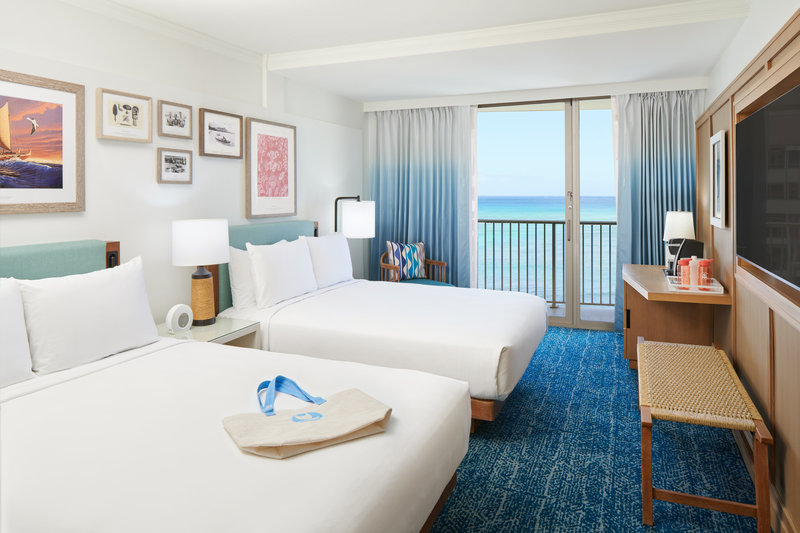 Outrigger Reef Waikiki Beach Resort - Outrigger Reef Oceanfront 2 Queen <br/>Image from Leonardo