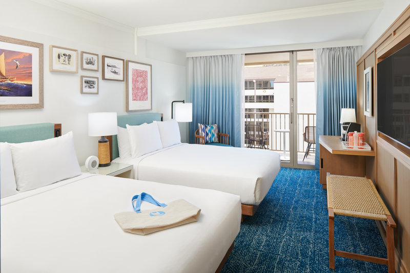 Outrigger Reef Waikiki Beach Resort - Outrigger Reef Partial Ocean View 2 Queen <br/>Image from Leonardo