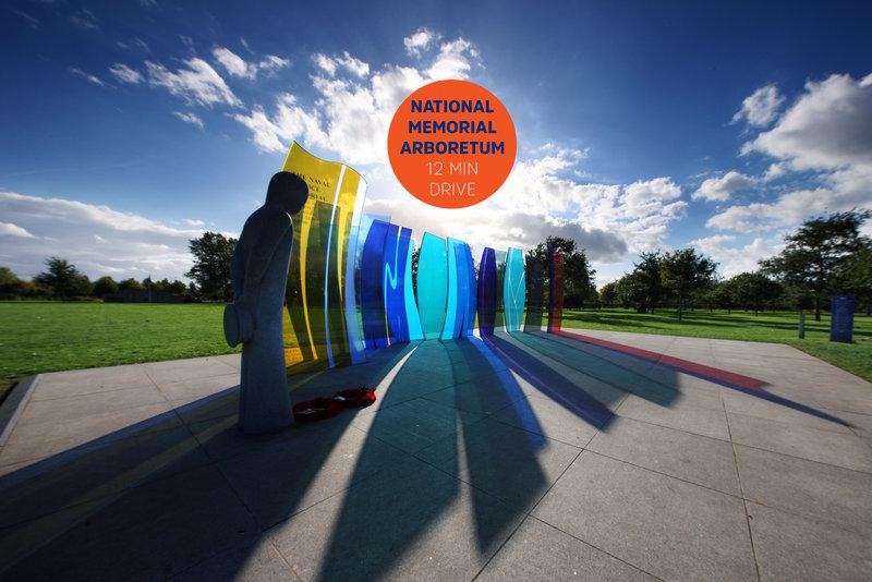 Holiday Inn Express Lichfield-National Memorial Arboretum © National Memorial Arboretum<br/>Image from Leonardo