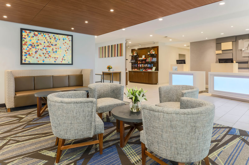 Holiday Inn Express and Suites Fort Worth Downtown-Lobby Seating Area<br/>Image from Leonardo