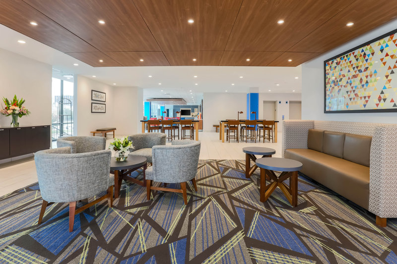 Holiday Inn Express and Suites Fort Worth Downtown-Hotel Lobby Seating Area<br/>Image from Leonardo