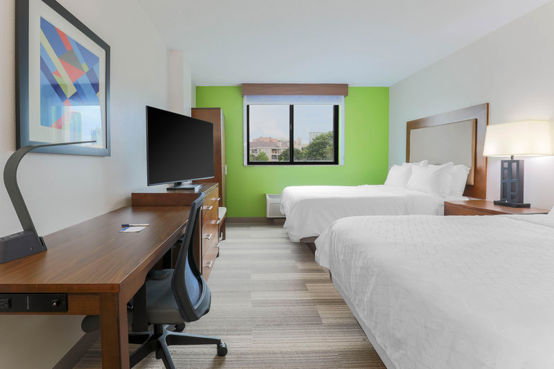Holiday Inn Express and Suites Fort Worth Downtown-Queen Bed Guest Room<br/>Image from Leonardo