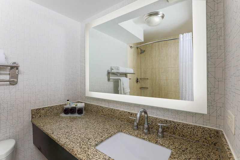Holiday Inn Express and Suites Fort Worth Downtown-Guest Bathroom<br/>Image from Leonardo