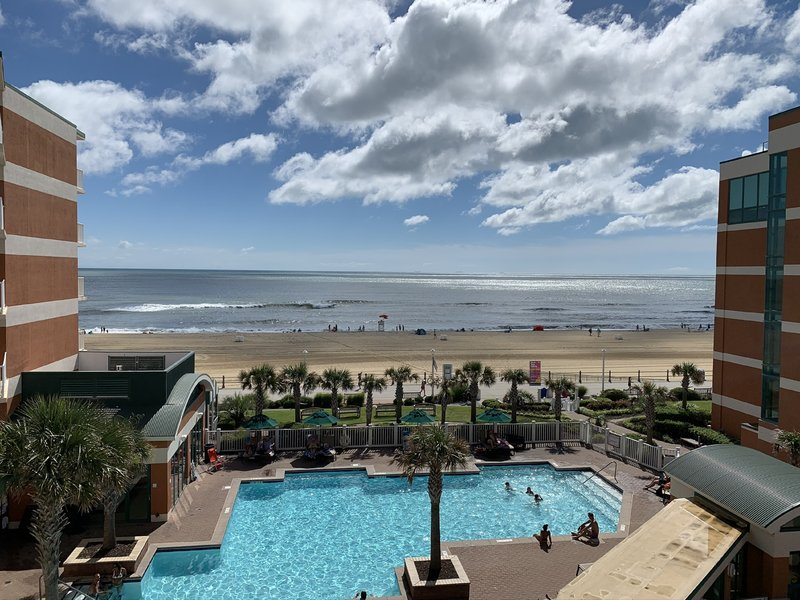 Holiday Inn Hotel & Suites Virginia Beach - North Beach-View from King Suite and King Accessible Room with Tub<br/>Image from Leonardo