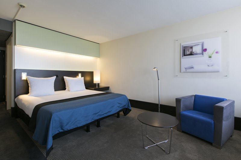 Holiday Inn Eindhoven-Non-essential items are removed as part of Covid19 precautions<br/>Image from Leonardo