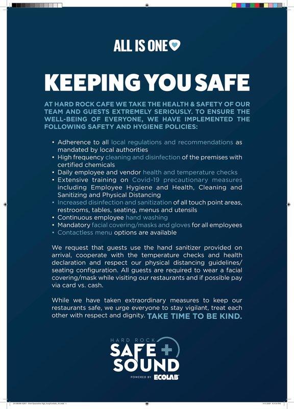 Hard Rock Cancun - Keeping You Safe Sign A3 (1).jpeg <br/>Image from Leonardo