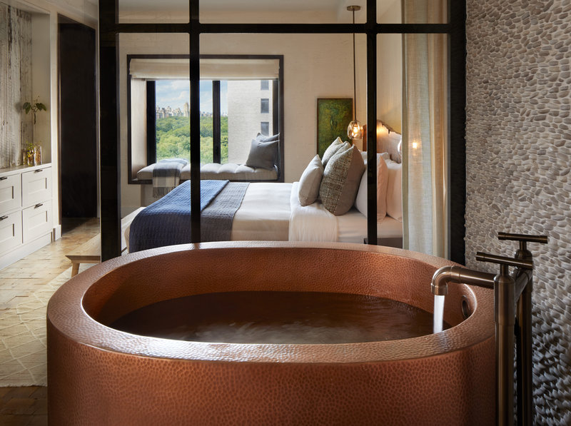 1 Hotel Central Park-Greenhouse Suite Master Bedroom Japanese Soaking Tub<br/>Image from Leonardo