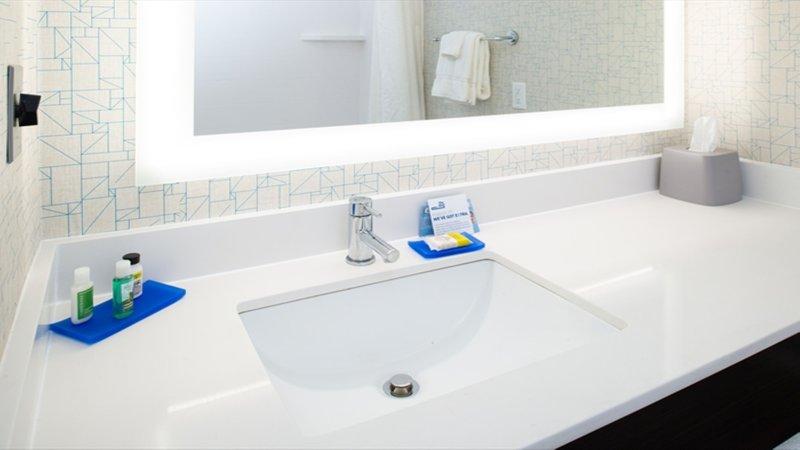 Holiday Inn Express Cincinnati West-Guest Bathroom<br/>Image from Leonardo
