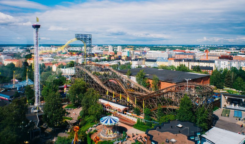 Holiday Inn Helsinki - Exhibition & Convention Centre-Famous Linnanmäki Roller Coaster in Helsinki<br/>Image from Leonardo