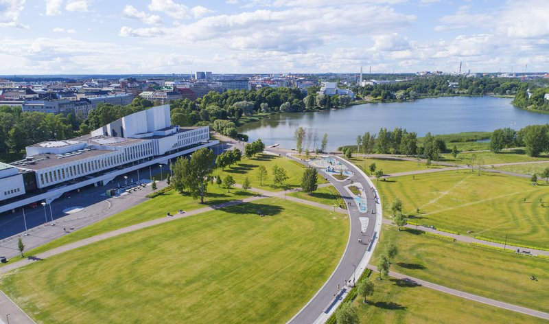 Holiday Inn Helsinki - Exhibition & Convention Centre-View over Toolonlahti Bay and famous Finlandia-hall<br/>Image from Leonardo
